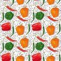 Seamless pattern - pepper Stock Photos