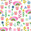 Seamless pattern with pigs