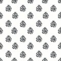 Seamless pattern with pine cones. Hand draw. Drawing markers