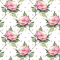 Seamless pattern with pink flowers 20 Royalty Free Stock Photo