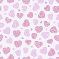 Seamless pattern with pink hearts, Valentine Day background. Abs