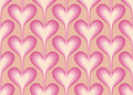 Seamless pattern with pink hearts vector Royalty Free Stock Photo