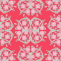 Seamless pattern with pink roses and green leaves Royalty Free Stock Image