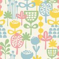 Seamless pattern with plants vector illustration Stock Photos