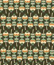 Seamless pattern with plants vector illustration Royalty Free Stock Image