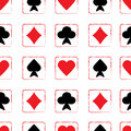 Seamless pattern with playing cards of Stock Photo