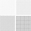 Seamless pattern pois white and black Stock Photography