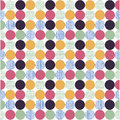 Seamless pattern, polka dot fabric Stock Images