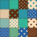 Seamless pattern of polka dot patchworks colorful Royalty Free Stock Photo