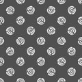 Seamless pattern with polka dots abstract roses background vector illustration Stock Photo