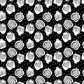 Seamless pattern with pomegranate . vector Royalty Free Stock Photo