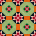 Seamless pattern with Portuguese tiles. Azulejo