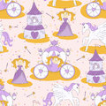 Seamless pattern with a princess Royalty Free Stock Photography