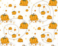 Seamless pattern - Pumpkins Stock Image