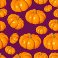 Seamless pattern with pumpkins. Stock Photos