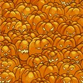 Seamless Pattern with Pumpkins for Halloween Yellow and Orange Color