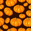 Seamless pattern with pumpkins. Vector EPS 8. Royalty Free Stock Images