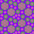 Seamless pattern with purple flower flowers on background vector illustration Royalty Free Stock Photography