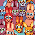 Seamless Pattern With Rabbits....