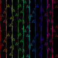 Seamless Pattern rainbow vertical stripes Royalty Free Stock Photo