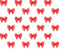 Seamless pattern of red bows Royalty Free Stock Photos