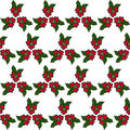 Seamless pattern of red flowers on white background Royalty Free Stock Photos