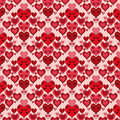 Seamless pattern with red hearts Royalty Free Stock Photo