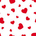 Seamless pattern with red hearts. Vector illustration.