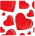 Seamless pattern red hearts on white stock vector illustration for your design Royalty Free Stock Photo