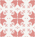 Seamless pattern with red stars in norwegian style vector illustration Stock Images