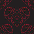 Seamless pattern. Reds hearts Stock Photography