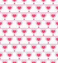 Seamless pattern with repeating hearts vector illustration Stock Photo