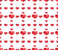 Seamless pattern with repeating hearts vector illustration Royalty Free Stock Photo