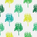 Seamless pattern,  repeating illustration, decorative ornamental stylized endless trees. Abstract background, seamles graphi