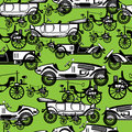 Seamless pattern of retro automobile Stock Photos