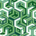 Seamless pattern retro background with green hexagons Stock Images