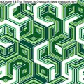 Seamless pattern retro background with green hexagons Stock Photography