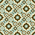 Seamless pattern retro ceramic tile design with floral ornate.