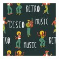 Seamless pattern. Retro party. Vector poster. Retro style illustration. Music and dance in retro style. Jazz musicians and dancers Royalty Free Stock Photo