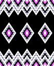 Seamless pattern of rhombuses in native american style. Royalty Free Stock Photo