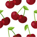 Seamless pattern with ripe cherry Stock Photography