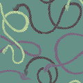 Seamless pattern with ropes vector illustration Stock Photography