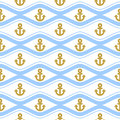 Seamless pattern with ropes and waves. Ongoing backgrounds of marine theme.