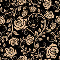 Seamless pattern with rose flowers for background design Royalty Free Stock Photography