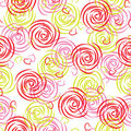 Seamless pattern of roses Stock Images