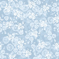 Seamless pattern with roses on a blue background. Stock Photography