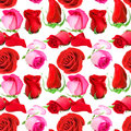 Seamless Pattern Of Roses Flow...