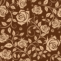 Seamless pattern with roses in retro style for background or wallpaper design Royalty Free Stock Photos