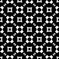 Seamless pattern with rounded crosses, squares, triangles