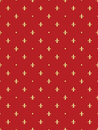 Seamless pattern with royal lilies abstract red Royalty Free Stock Photo